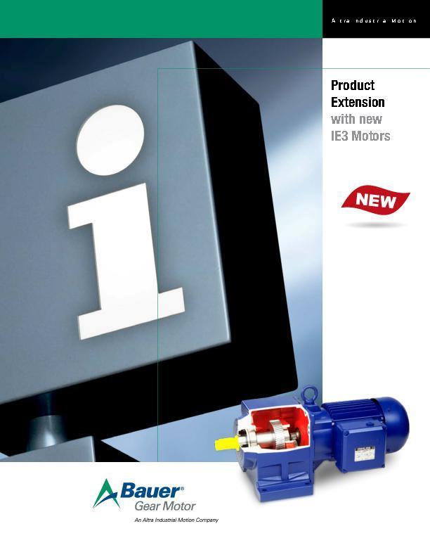 Brochures Gear Motors Bauer Gear Motor