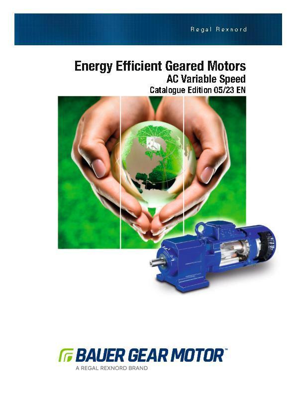 Super Premium Efficient Geared Motors Bauer Gear Motor