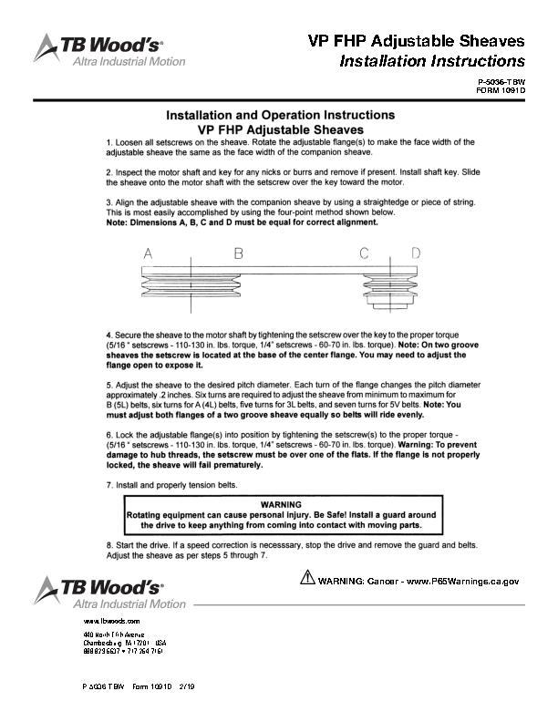 Service Manuals | TB Wood's Incorporated