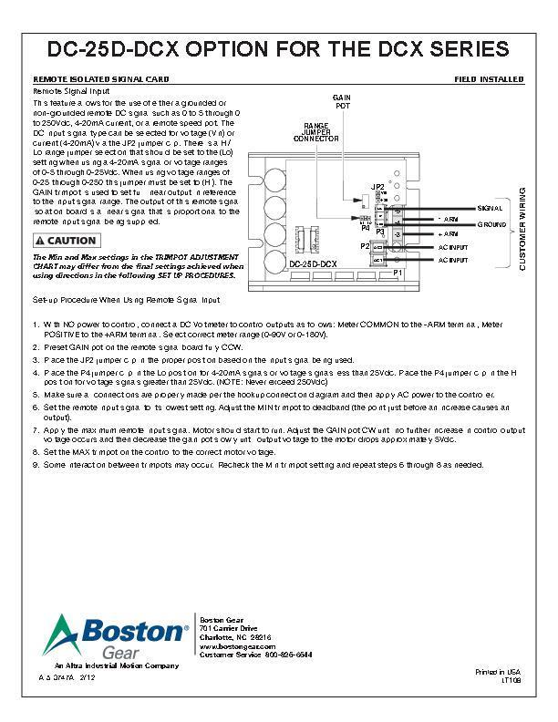 service manuals boston gear dcx series